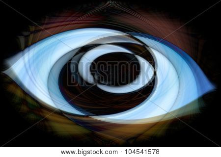 Digital abstract twirled background