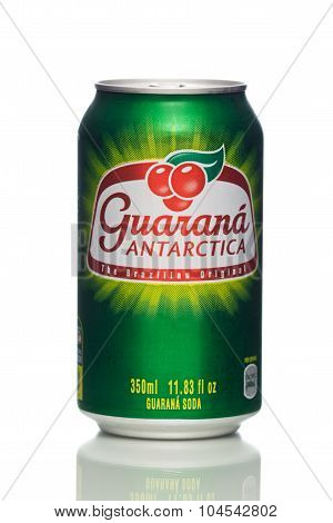 MIAMI, USA - February 19, 2015: Photo of a 350ml can of Guarana.