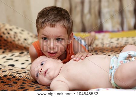 Child With His Little Brother