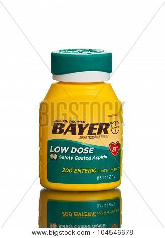 MIAMI, USA - February 9, 2015: The low dose aspirin is highly recommended by many doctors.