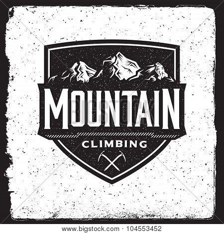 Mountain Climbing Vintage Emblem