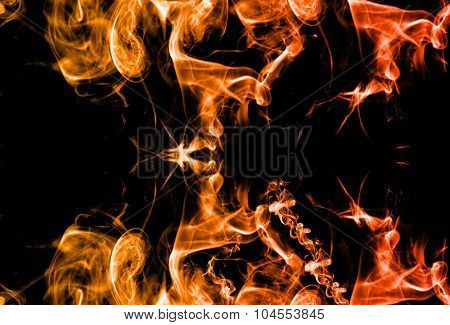 Abstract Smoke Graphic Fire Color Background. Smoke Abstract Background Made With Color Filters.