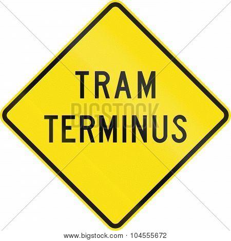 Tram Terminus In Australia