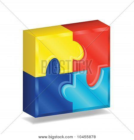 3D Puzzle Square