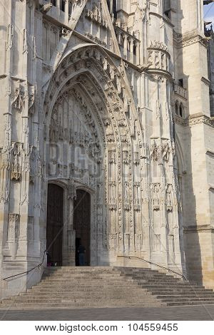 Entrance Of The Cathedral Of Beaubais, Oise, Picardie, France