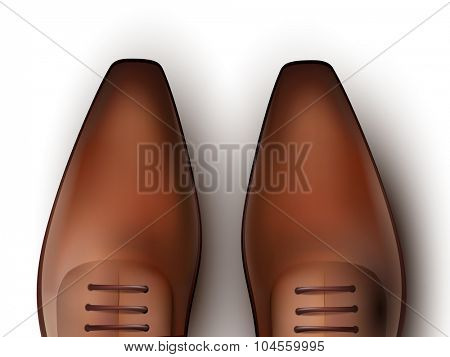 vector leather shoes