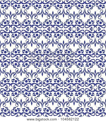 Blue elegant pattern with vintage elements