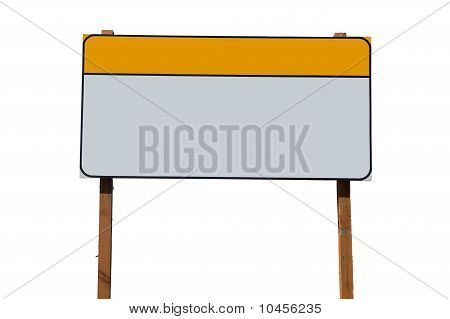 Blank construction sign