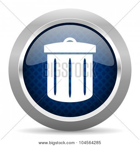 recycle blue circle glossy web icon on white background, round button for internet and mobile app