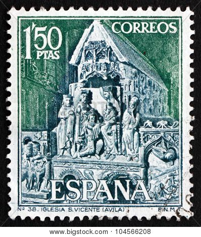 Postage Stamp Spain 1968 Statuary Group