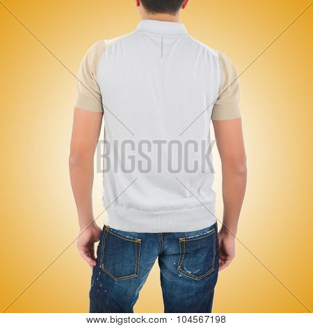 Man in fashion concept on white