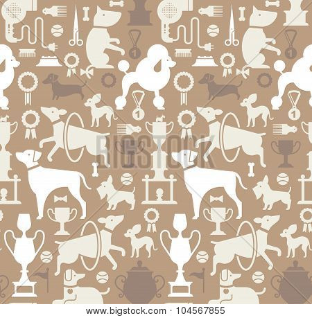 Background With Dog Silhouettes