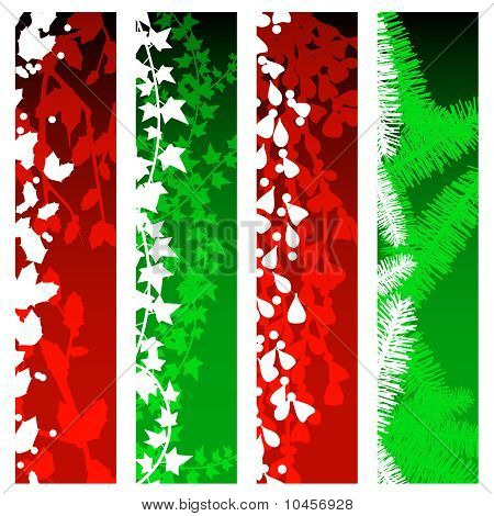 Christmas greenery banners
