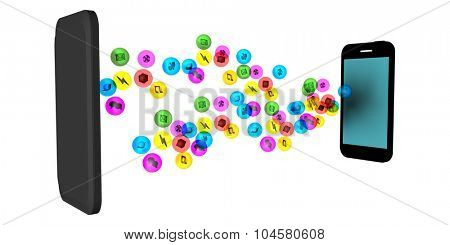 Apps Background for Smartphone Mobile Industry as Concept