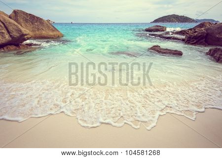 Vintage Style Sea And Beach In Thailand