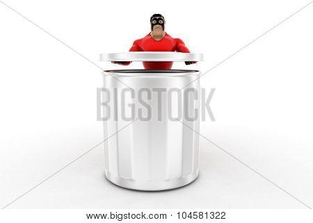 Superhero Opening  Dustbin Concept
