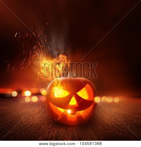 Spooky Halloween Night