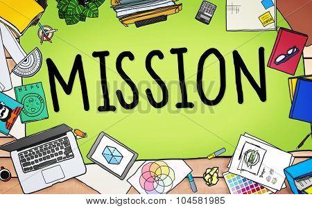 Mission Success Target Aim Goal Concept