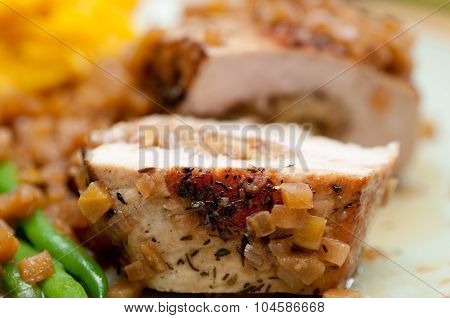Apple Stuffed Pork Chop