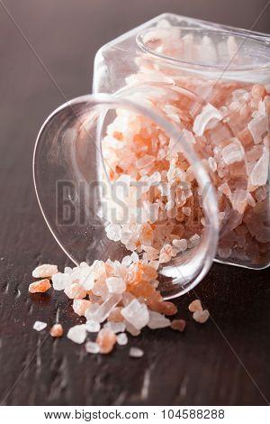 pink himalayan salt in jar