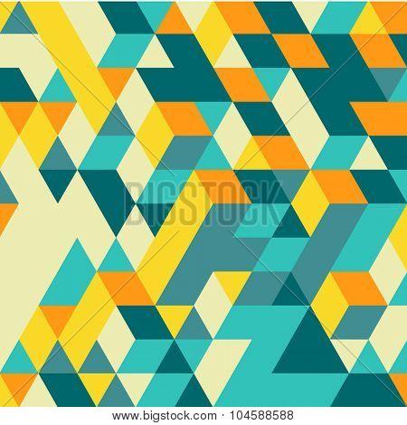 3d blocks structure background. Geometric pattern. Vector illustration.