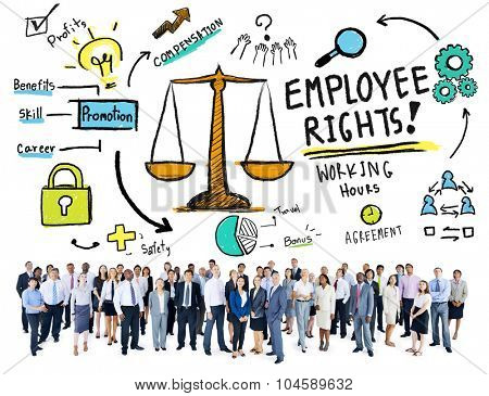Employee Rights Employment Equality Job Business Aspiration Concept