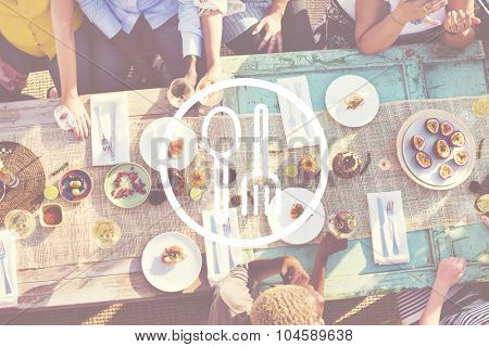 Spoon Fork Dishware Foodcourt Equipment Concept