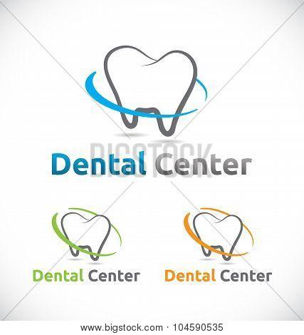 Dental Care Center Logo Element Design