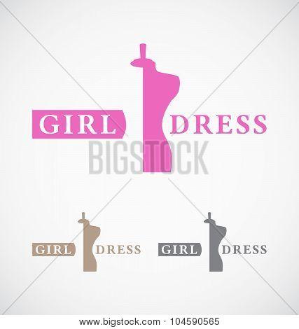 Dressmaker's Shop And Store Logo Design.