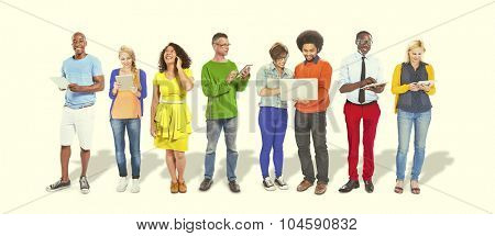 Diverse People Happiness Friendship Communication Networking Concept