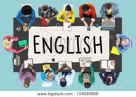 English British England Language Education Concept