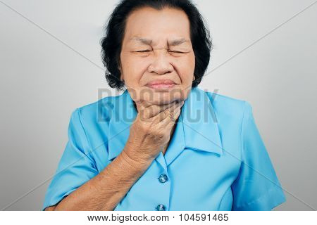 Sore Throat Old Woman