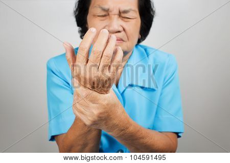 Acute Pain In A Senior Woman Wrist