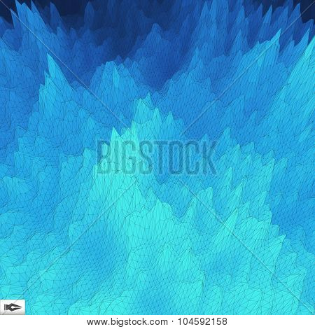 Grid Background. Mosaic. 3d Vector Illustration. Abstract Texture.