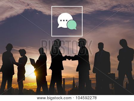 Messaging Talking Icon Communication Conversation Concept