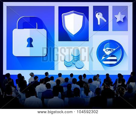 Security Protection Privacy Password Firewall Concept