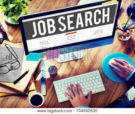 Job Search Searching Career Application Concept