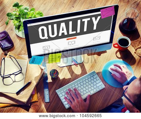 Quality Guarantee Grade Excellence Level Concept