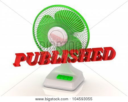 Published- Green Fan Propeller And Bright Color Letters