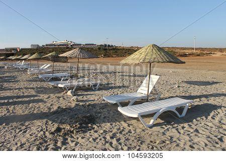 The coast of the Aegean Sea in Turkey