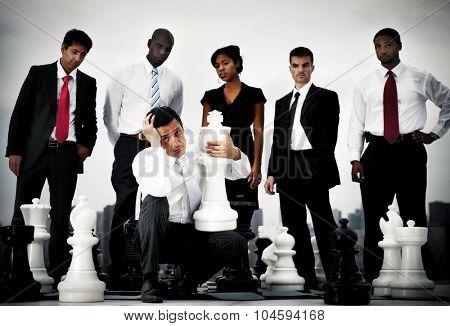 Business People Leader Crisis Failure Concept