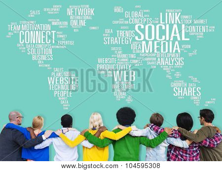 Social Media Internet Connection Global Communications Networking Concept