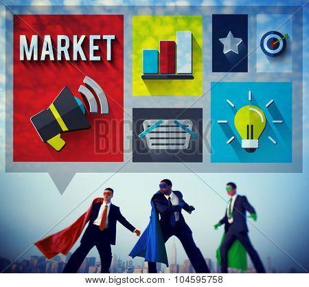 Market Consumerism Marketing Product Branding Concept