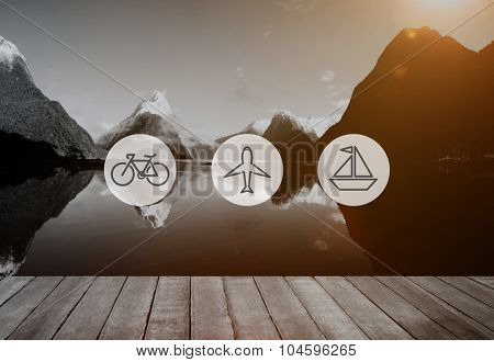 Transportation Transport Icon Travel Journey Trip Concept