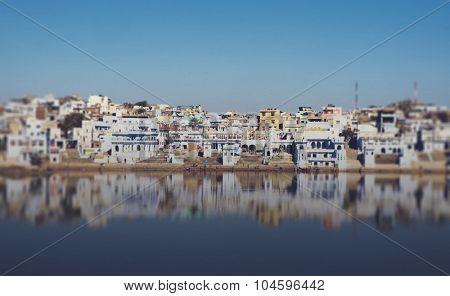 Panorama Holy Brahman Town Lake Early Morning Concept