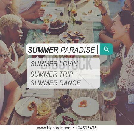 Summer Paradise Search Website Beach Concept