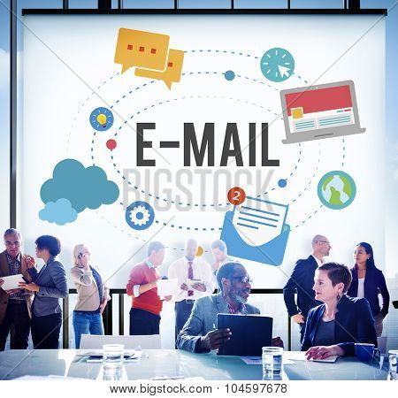 Online Message E-mail Correspondence Connection Technology Concept