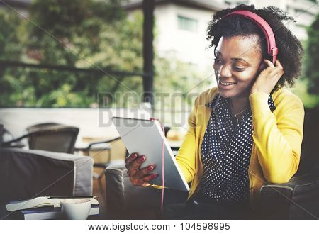 African Descent Listening Music Lifestyle Concept