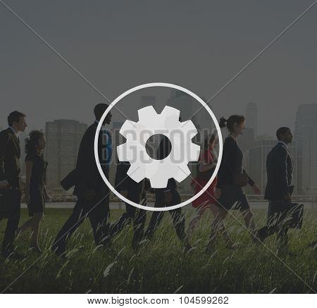 Teamwork Team Collaboration Connection Gear Organisation
