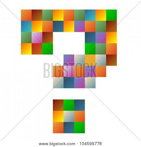 Question mark, letter rainbow colorful sparkling vector illustration